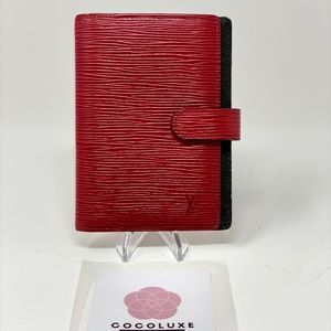 Louis Vuitton Agenda Epi Red PM